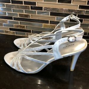 Unforgettable Moments white satin wedding bling