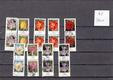 BRD Blumen Rollenmarken Paare mit Zählnummer (48)