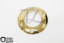 NRG GOLD CHROME STEERING WHEEL HORN BUTTON RING REPLACEMENT 6 BOLT PATTERN MOMO