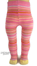 """QUALITY Pink Striped Winter THICK Tights for 18"""" American Girl Doll Clothes"""