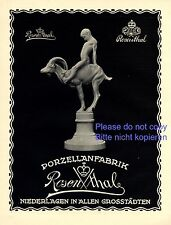 Porzellan Rosenthal Reklame 1923 Ziegenbock Junge Mann männlicher Akt China gay