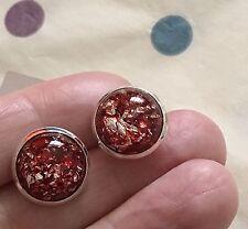 Pretty Rosso Opale Orecchini a perno resina