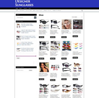 DESIGNER SUNGLASSES FULLY STOCKED UK WEBSITE WITH ONE YEARS HOSTING + DOMAIN