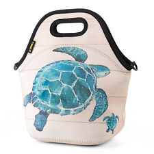 Neoprene Lunch Bag for Women Office Picnic Sea Turtle Insulated Kids Lunch Box