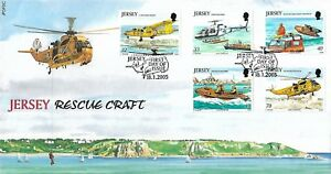JERSEY 2005 RESCUE CRAFT FIRST DAY COVER