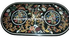 Marble Dining Corner Table Top Marquetry Stone Semi Precious Home Decor H2060