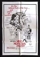 MAD MONSTER PARTY * CineMasterpieces 1SH ORIGINAL MOVIE POSTER NM 1968