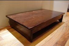 """Handcrafted Heavy Duty Wooden Bedside Step Stool, 7"""" tall, 14 x 24"""" Red Mahogany"""