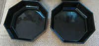 Cris D'Arques Durand Arcoroc Octime black bowls France set of 2