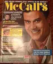 McCalls fashion mag issue McCall's November 1984 Larry Hagman Dallas M. M. Kaye
