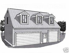 36x28 3 Car Garage Building Plans Dormered Loft & 12x28 Stall with 17ft+ Ceiling