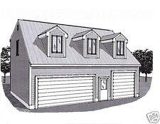 36x28 3 Car Garage Building Plans Dormer Loft & 12x28 Stall with 17 ft+ Ceiling
