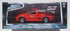 GREENLIGHT FAST & FURIOUS 1:43 BRIAN'S 1999 FORD F-150 SVT LIGHTNING * NEW *