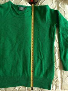 Damen Pullover grün Gr. 36 38 Seide & Cashmere