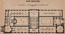 Nouveau musée. neues museum plan d'étage. berlin karte. baedeker. petite carte de 1900
