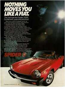 1981 FIAT Spider 2000 red convertible Vintage Print Ad