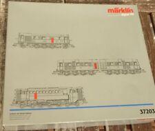Märklin 37203 Emballages Vides pour 3x Locomotives Diesel V16, V 188,V 120