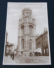 More details for postcard university tower bristol england ags & co. real photo rp