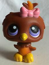 LITTLEST PET SHOP ~ LPS ~ RETIRED brown BABY OWL BIRD # 354 ~MULTI BUY DEALS