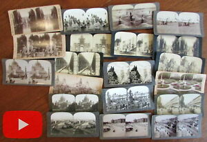 Russia stereoviews lot x 20 different U & U Keystone Killelea city views