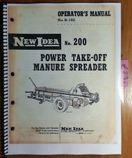 New Idea 200 Manure Spreader Owner's Operator's & Parts Manual S-182 1/59