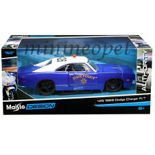 MAISTO 32519 1969 DODGE CHARGER R/T STATE POLICE CAR 1/24 DIECAST BLUE WHITE