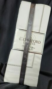 """Waterford 4 Classic Napkins 21x21"""" Creamy White, Silver Accent Cotton SHIPS FREE"""