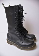 Dr. Martens 1914 Tall Boots Smooth Black Leather 14- eye Women's US Size 5 / 36