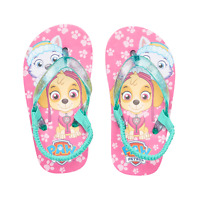 PAW Patrol Flip Flops Size 5/6 Everest Skye Glitter Thong Toddler