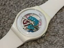 "SWATCH NEW GENT ""WHITE LACQUERED"" WATCH SUOW100 MENS/LADIES/BOYS/GIRLS"
