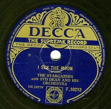 CLASSIC 1954 UK #1 STARGAZERS 78  I SEE THE MOON / EH CUMPARI ! DECCA F10213 EX+