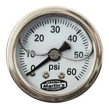 MANOMETRO - OIL PRESSURE GAUGE 60 psi - MARLIN'S PARTS - Listino € 43,50