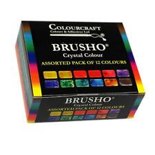 Colourcraft Brusho Crystal Colour Watercolour Pigment Assorted Box Set 8, 12, 24