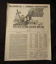 1953 The Robe PRESS BOOK VG 13x16 4 pgs Richard Burton, Jean Simmons