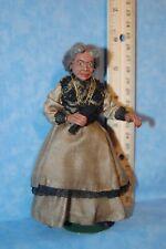 Artisan African American Woman Doll 1:12  Dollhouse Miniatures OOAK
