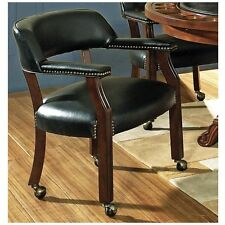Steve Silver Company Tournament Captains Chair with Casters, Black TU500AB New