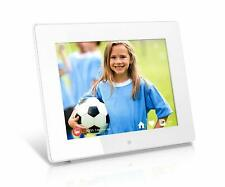 Aluratek AWDMPF8BB 8 Inch WiFi Digital Photo Frame w/ Touchscreen IPS LCD