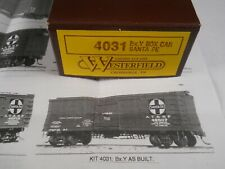 NIB WESTERFIELD MODELS KIT 4031 Bx.Y BOX CAR SANTA FE