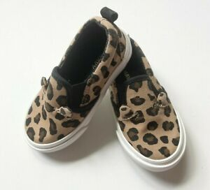Old Navy Baby Girl 5 Shoes Novelty Leopard Slip On Canvas Casual Cat Ears
