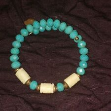 ALEX AND ANI Vintage Sixty-Six turquoise Beaded Wrap Bracelet