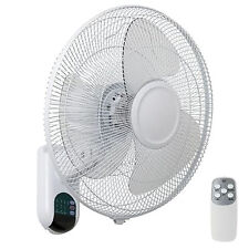 NEW Mercator Athena 16 Inch Wall Fan White High Air Flow With Remote Control