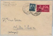 57136 - REPUBBLICA - STORIA POSTALE: ESPRESSI usati come ordinari su BUSTA  1949