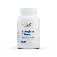 Vita World L-Arginin 750 mg 100 Kapseln Apotheker-Herstellung basisch Base