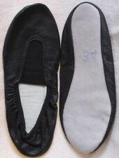 12,50€*/Paar Gymnastikschuhe Leder schwarz Gr. 34 Ristgummi Chromledersohle