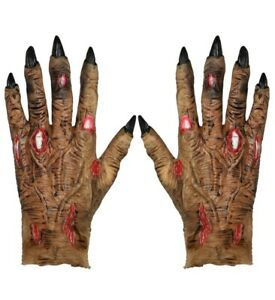 IAL 00215 Handschuhe Zombie Latex Monster Grusel Halloween Karneval