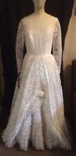 Stunning Vintage Wedding Dress Size 8 Late 50s/ Early 60s Collectible