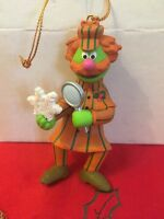 Sesame Street Sherlock Hemlock Jim Henson  Christmas Grolier Ornament New In Box