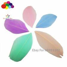 Macaron color mix Good quality feather Round head 100pcs/lot goose 5-7cm