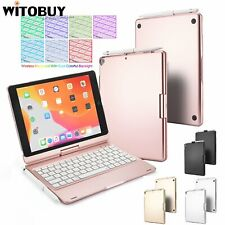 """Bluetooth Keyboard Case with 7 Colour Backlit 360 Rotation for iPad 10.2"""" Gen 7"""