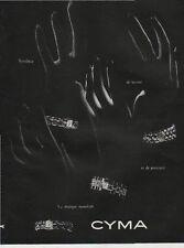 Publicité Advertising 1950 montre CYMA Print AD